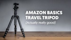Amazon Basics carbon fibre travel tripod review